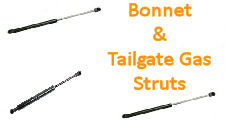 BOOT / BONNET & TAILGATE GAS STRUT DAMPERS