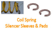 COIL SPRING SILENCER PADS / SLEEVING