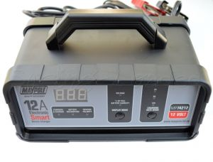 Maypole 12amp 12v Electronic Smart Fast Bench Battery Charger, for Car Van Boat