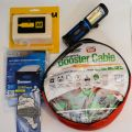 Winter Car Kit - Rechargeable LED Lamp, Jump Leads, Screen Cover, Ice Scraper