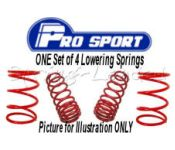 ProSport Lowering Springs 40mm for BMW 3 Series Compact E46, 316 Ti / 318 Ti, E46/5, 2001-2004 :121129